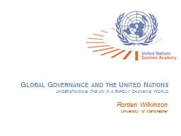 Global Governance and the United Nations