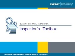Inspector's Toolbox