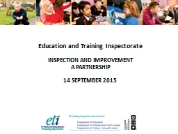 Education and Training Inspectorate