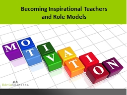 Becoming Inspirational Teachers