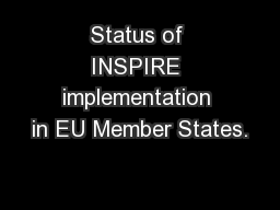 Status of INSPIRE implementation in EU Member States.