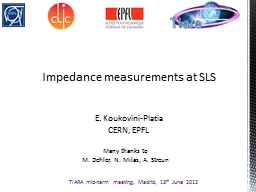 Impedance measurements at SLS PowerPoint PPT Presentation