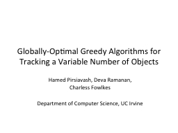 Globally-Optimal Greedy Algorithms for Tracking a Variable