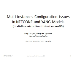 Multi-Instances Configuration Issues PowerPoint PPT Presentation