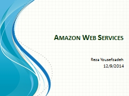 Amazon Web Services PowerPoint PPT Presentation