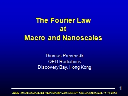 The Fourier Law                               at