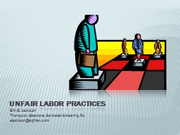 Unfair Labor Practices PowerPoint PPT Presentation