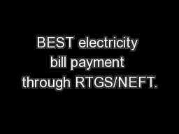 BEST electricity bill payment through RTGS/NEFT. PDF ...