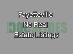 Fayetteville Nc Real Estate Listings