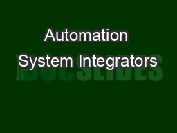 Automation System Integrators