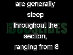 2.13). Dips are generally steep throughout the section, ranging from 8