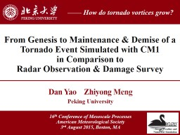 Case Study of a Tornado in China