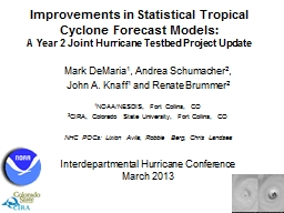 Improvements in Statistical Tropical Cyclone Forecast Model