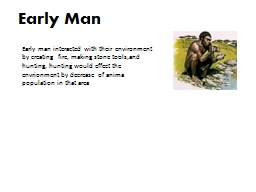Early Man PowerPoint PPT Presentation