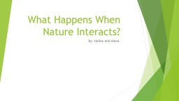 What Happens When Nature Interacts? PowerPoint PPT Presentation
