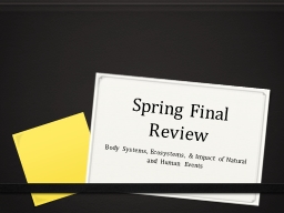 Spring Final Review PowerPoint PPT Presentation