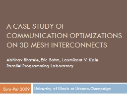A Case Study of Communication Optimizations on 3D Mesh Inte