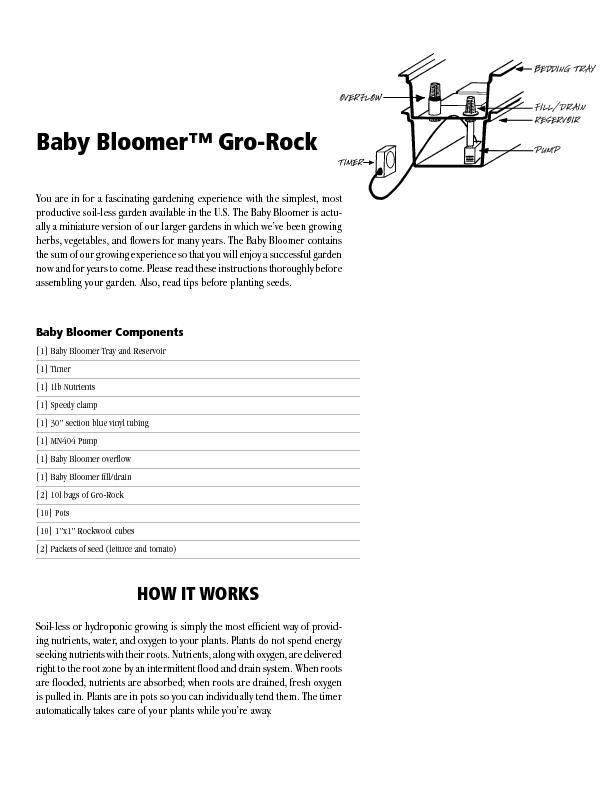 Baby Bloomer™ Gro-Rock You are in for a fascinating gardening exp