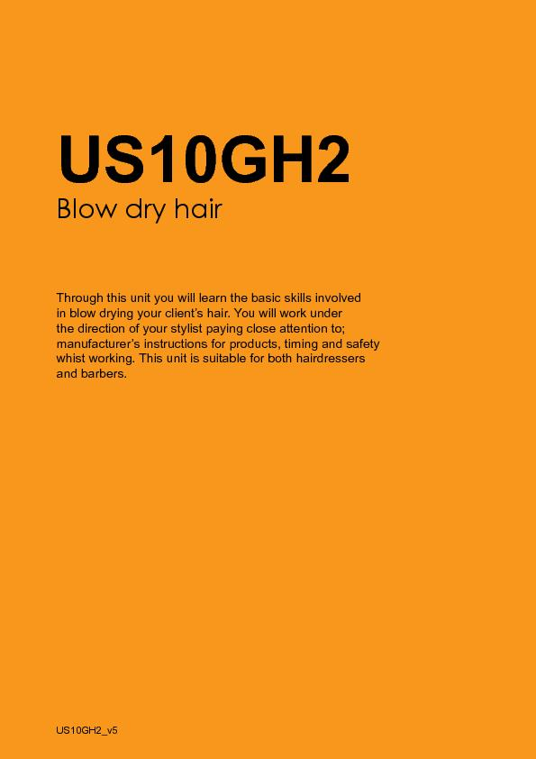 in blow drying your client's hair. You will work under manufactur