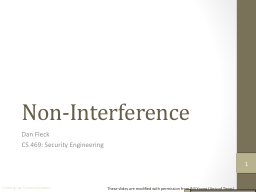 Non-Interference
