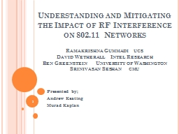 Understanding and Mitigating the Impact of RF Interference