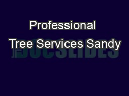 Professional Tree Services Sandy