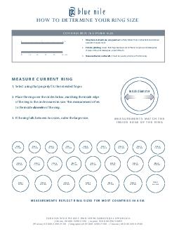 HOW TO DETERMINE YOUR RING SIZE Please carefully read all instructions PowerPoint PPT Presentation