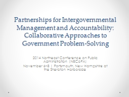 Partnerships for Intergovernmental Management and Accountab PowerPoint PPT Presentation
