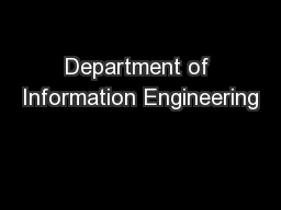 Department of Information Engineering