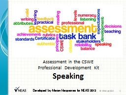 Assessment in the CSWE