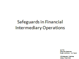 Safeguards in Financial Intermediary Operations
