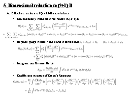 5. Dimensional reduction to (2+1)-D