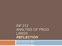 INF 212 PowerPoint PPT Presentation