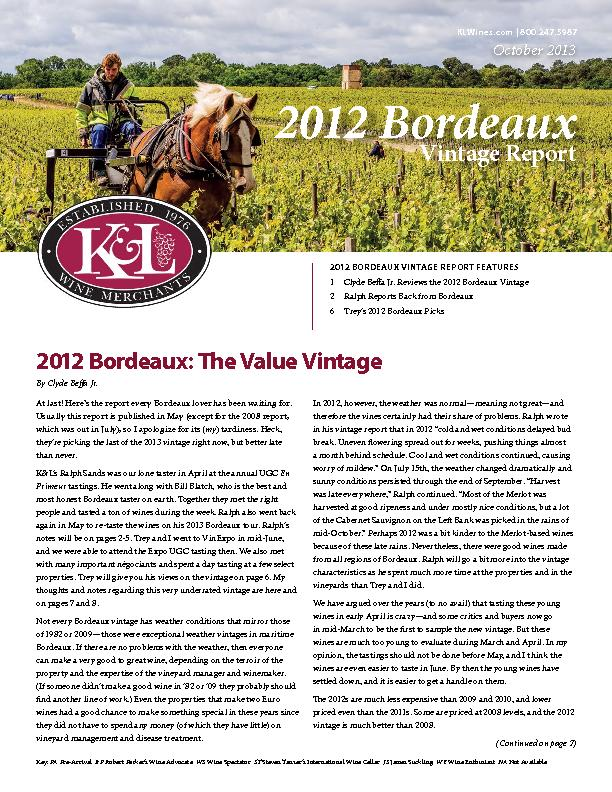 At last! Here's the report every Bordeaux lover has been waiting