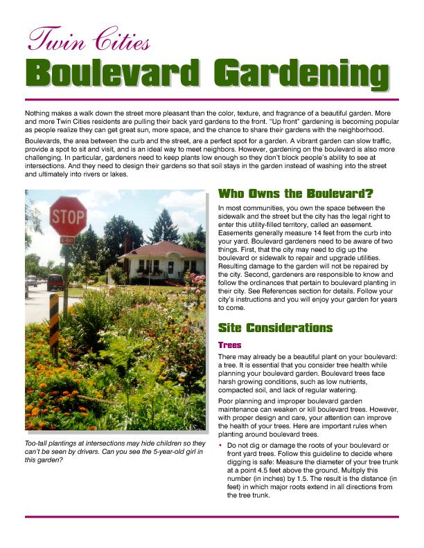 Who Owns the Boulevard?Site ConsiderationsIn most communities, you own
