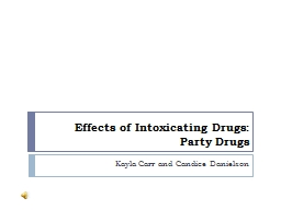 Effects of Intoxicating Drugs PowerPoint PPT Presentation