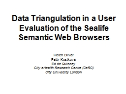 Data Triangulation in a User Evaluation of the Sealife