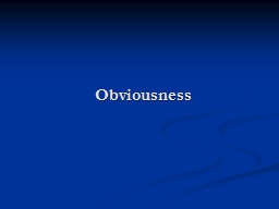 Obviousness PowerPoint PPT Presentation