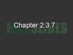 Chapter 2.3.7.