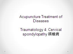 Acupuncture Treatment of Diseases