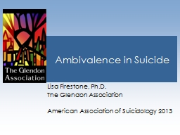 Ambivalence in Suicide