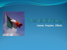 The 1916 Rising PowerPoint PPT Presentation