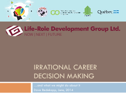 Irrational Career Decision Making
