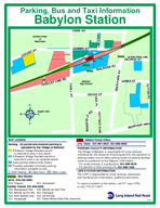 Argyle Lake Babylon High School to Post Office Ancient Order of Hibernians Parking Bus and Taxi Information Babylon Station MAP LEGEND Taxis    Parking All permit and metered parking is operated by t