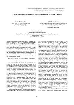 Arsenic Removal by Nanoiron in the Gas-bubbled Aqueous Solution  Visan