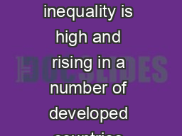 COKNCEMITQWPFCPFCEEGUUVQJKIJ UVCVWUWPKXGTUKVKGU Dr John Jerrim  Economic inequality is high and rising in a number of developed countries including in the United Kingdom and the United States