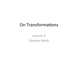 On Transformations