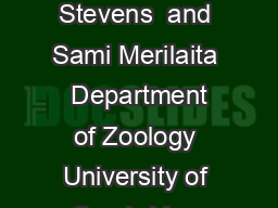Introduction Animal camouage current issues and new perspectives Martin Stevens  and Sami Merilaita  Department of Zoology University of Cambridge Downing Street Cambridge CB EJ UK Department of Zool
