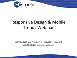 Responsive Design & Mobile Trends Webinar