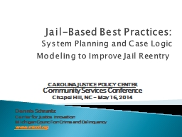 Jail-Based Best Practices: